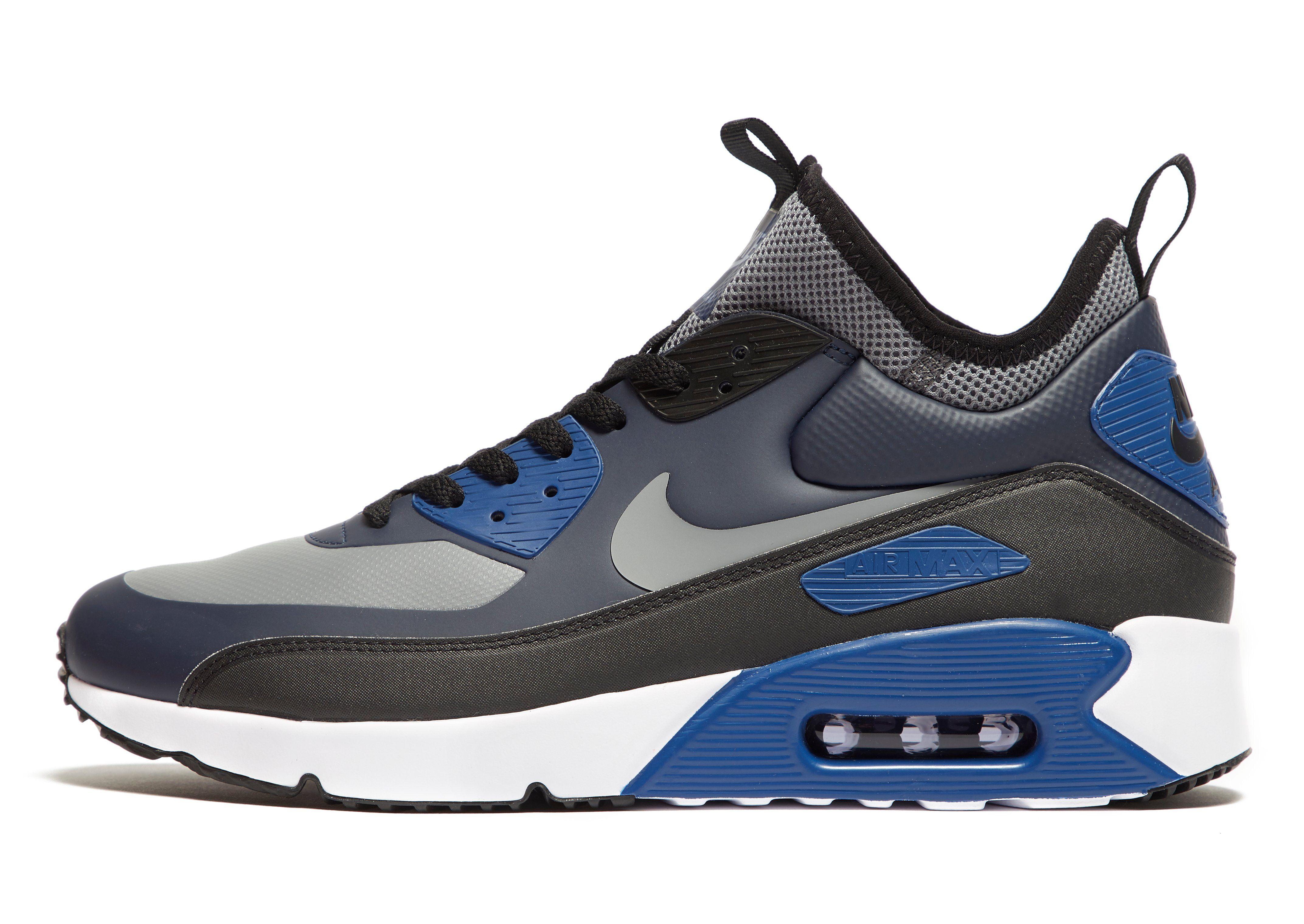 nike air max 90 blue grey and black