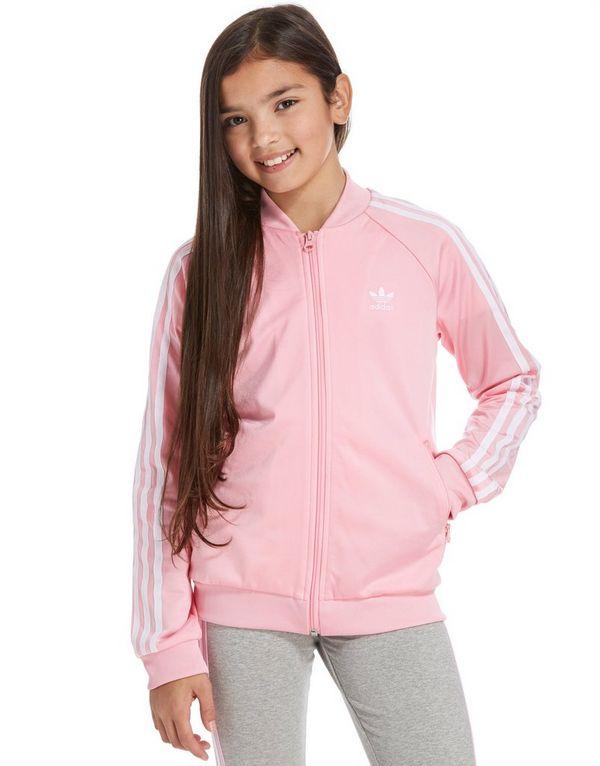 adidas Originals Girls' Superstar Track Top Junior