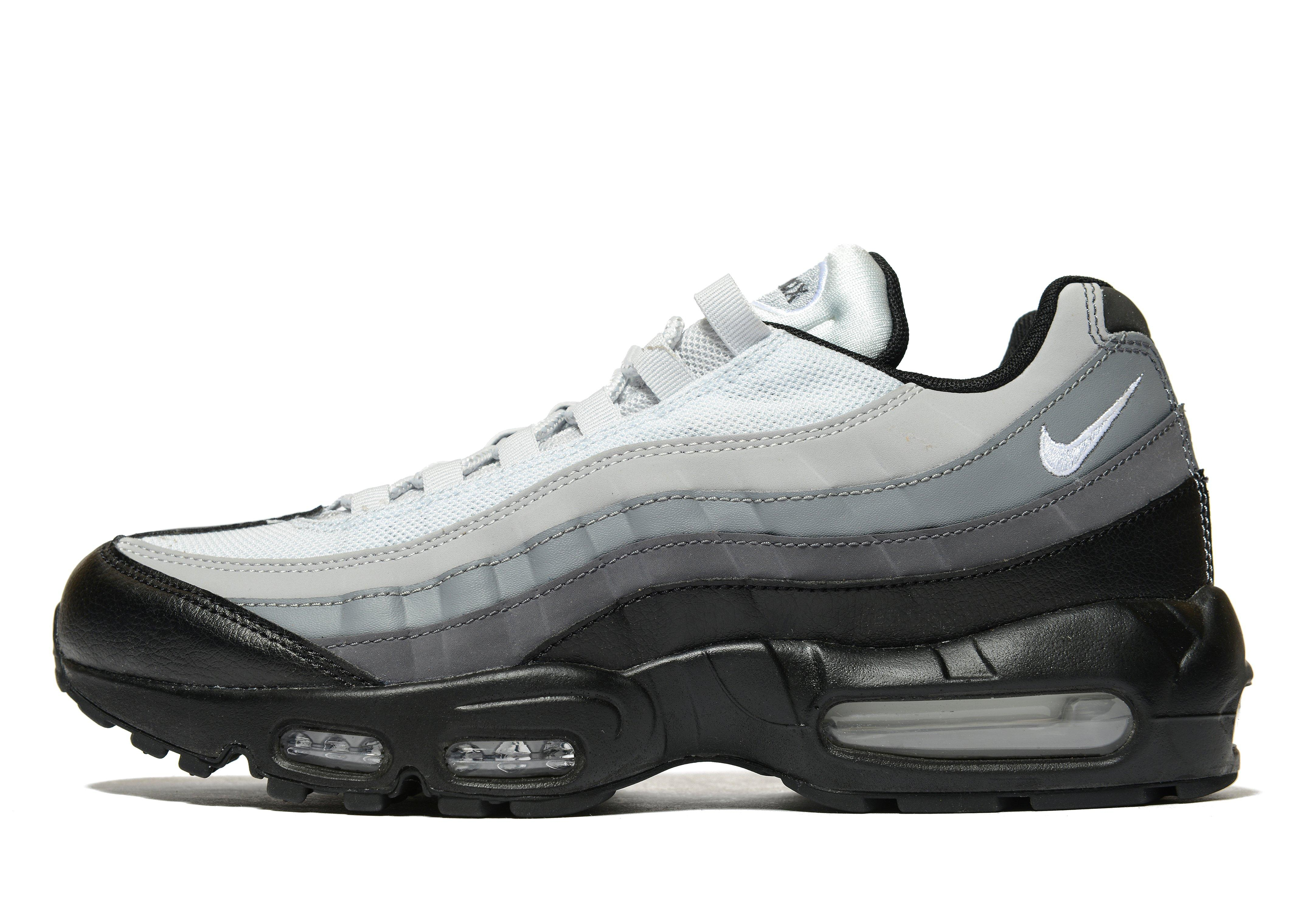 nike air max 95 black white grey