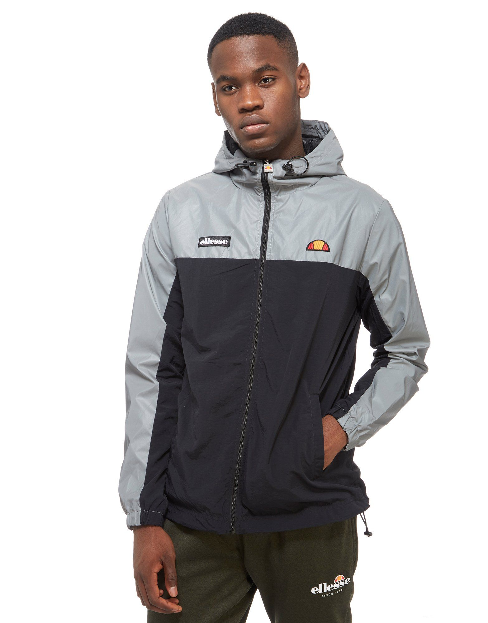 ellesse ervero reflective hooded jacket jd sports. Black Bedroom Furniture Sets. Home Design Ideas