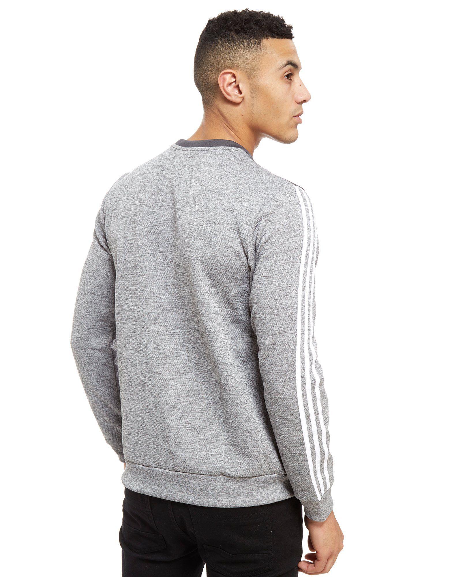adidas Originals Nova Woven Crew Sweatshirt Grau Auslasszwischenraum Store Kaufen Sie Günstig Online Exklusiv Billig Verkauf Countdown-Paket Günstig Kaufen Exklusiv hGOaI
