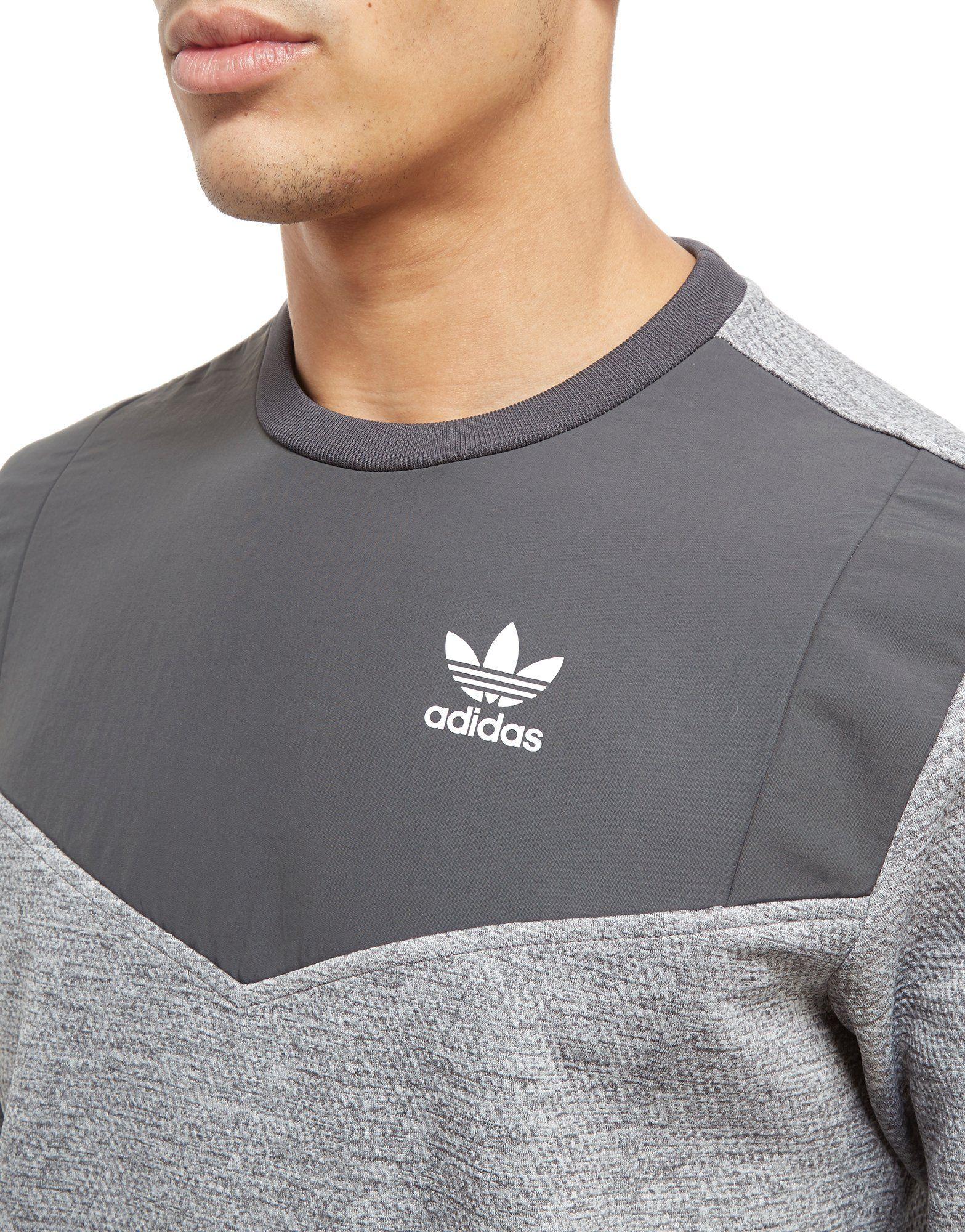 Auslasszwischenraum Store Kaufen Sie Günstig Online adidas Originals Nova Woven Crew Sweatshirt Grau afoNsA