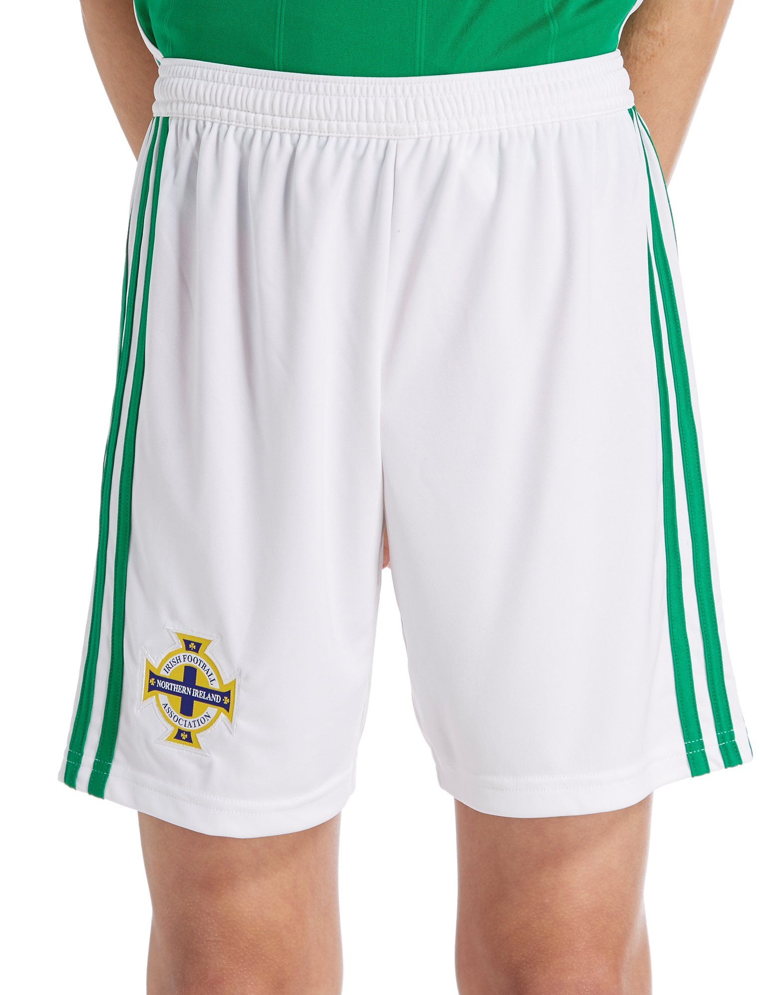 adidas Northern Ireland 2018 19 Home Shorts Junior ... 3f57d21eabed2