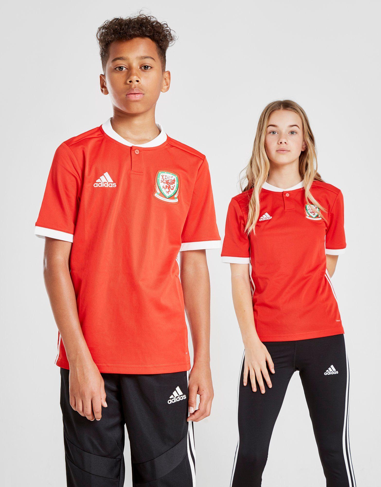 adidas Galles 2017/18 Home Shirt Junior