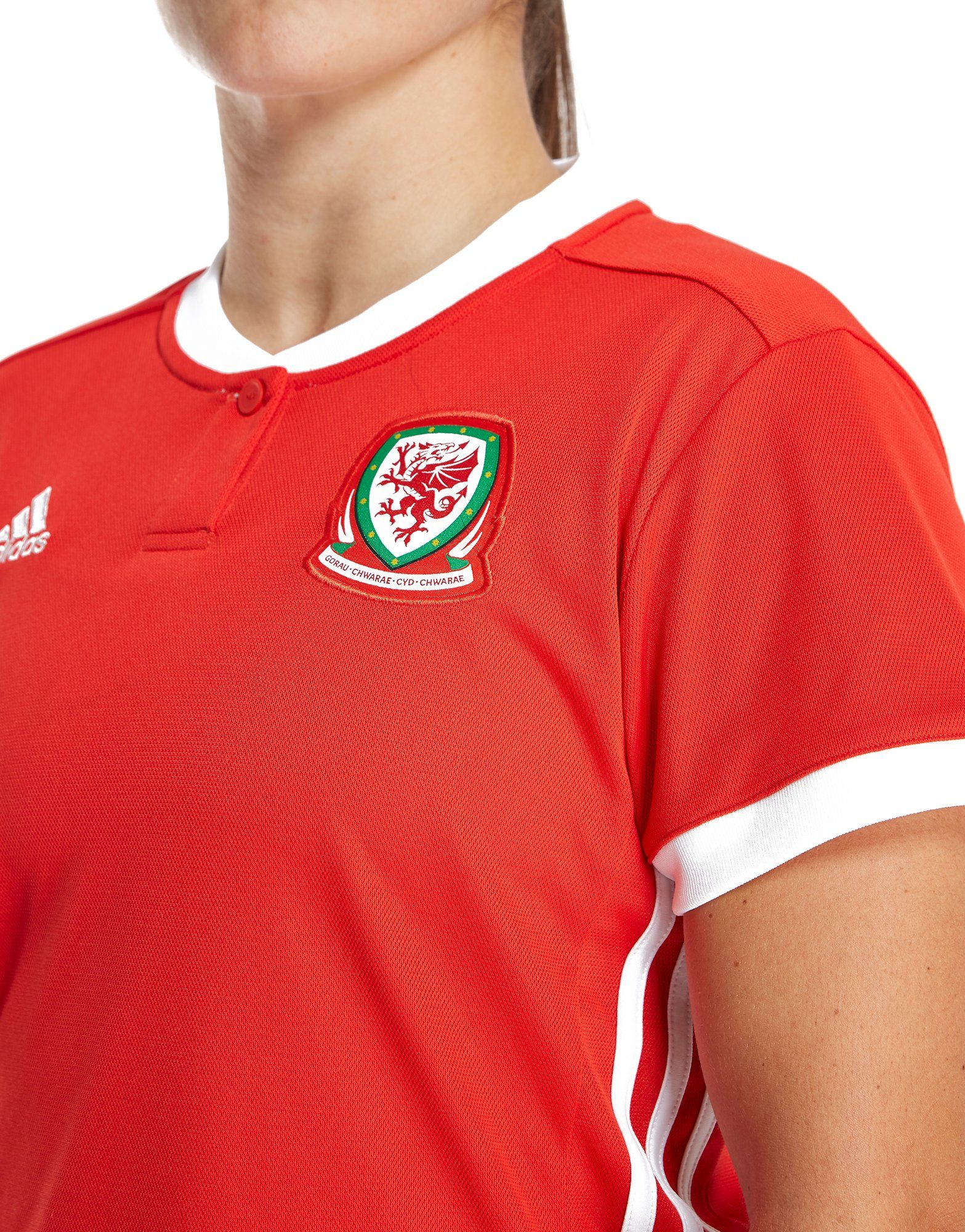adidas Wales 2018/19 Home Shirt Women's Rot