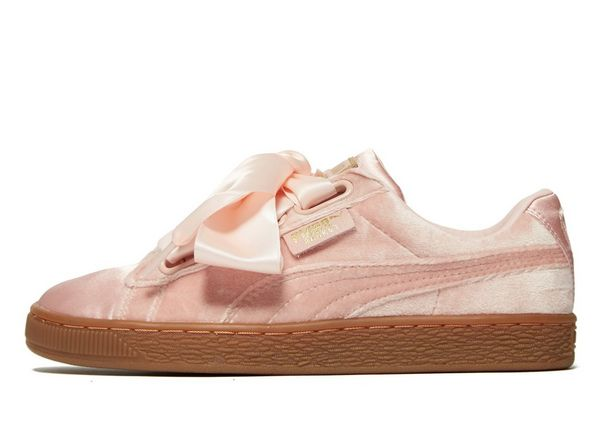 puma basket heart pink