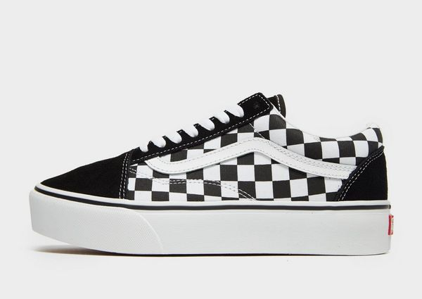 checkerboard old skool vans platform