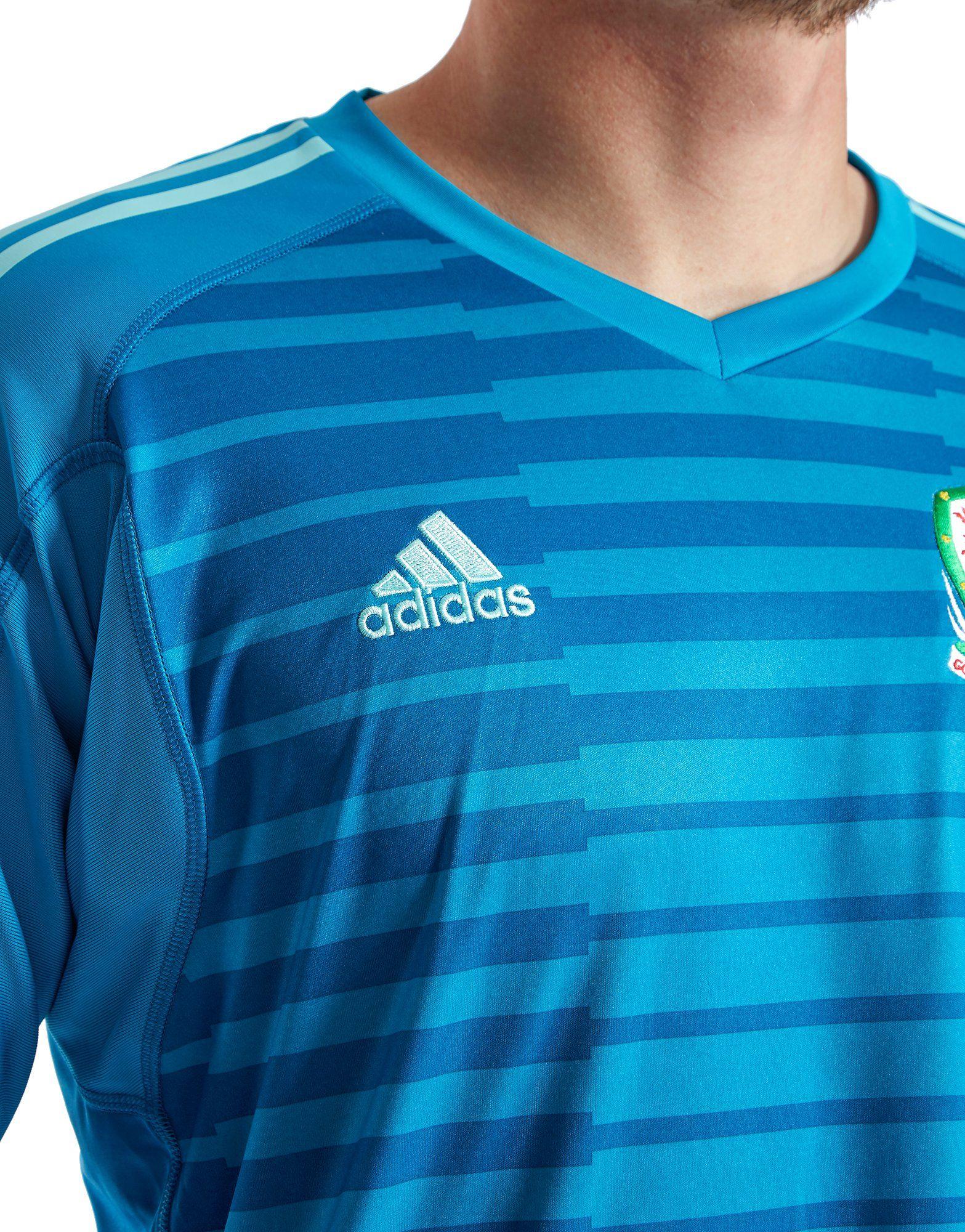 adidas Wales 2018/19 Home Goalkeeper Shirt Blau Versorgung Günstiger Preis Rabatt Mit Kreditkarte Billig Authentische Billig Wie Viel dVrPO7C