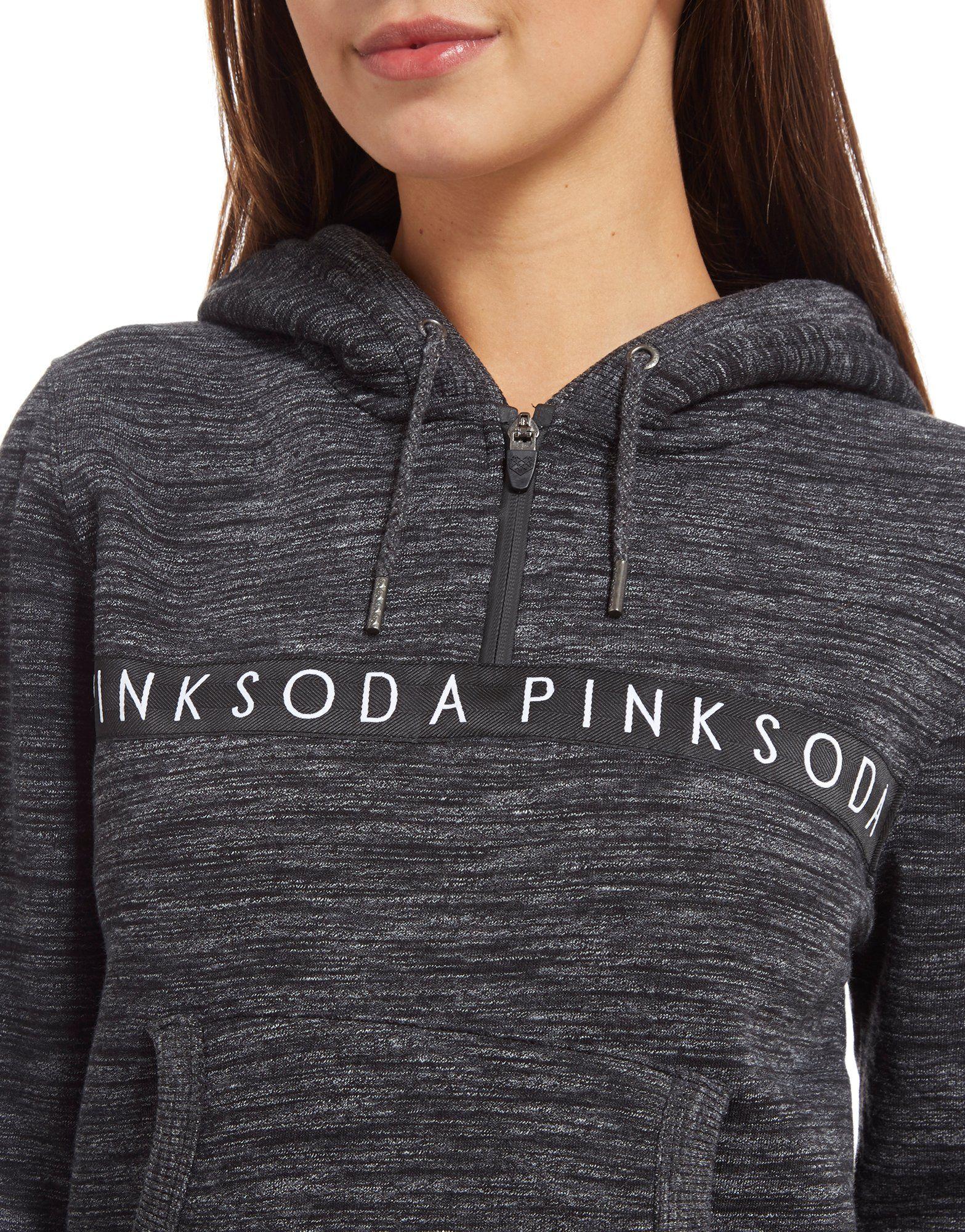 Pink Soda Sport Space Dye 1/2 Zip Hoodie