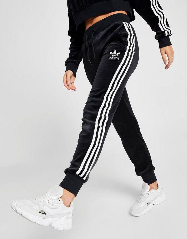 adidas Originals 3-Stripes Velvet Joggingbroek Dames   JD Sports