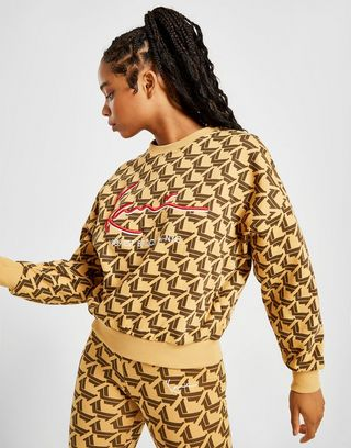Karl Kani All Over Print Sweatshirt Damen