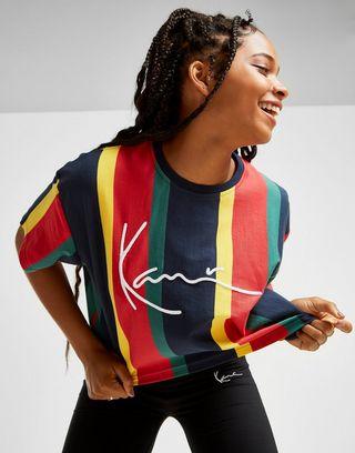 Karl Kani Signature Stripe Crop T-Shirt Damen