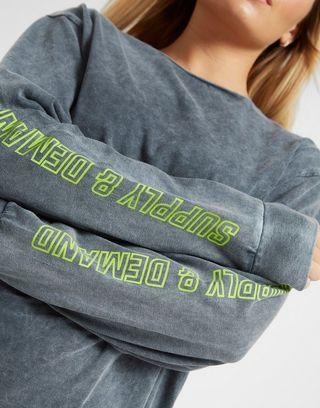 Supply & Demand Acid Wash Long Sleeve T-Shirt
