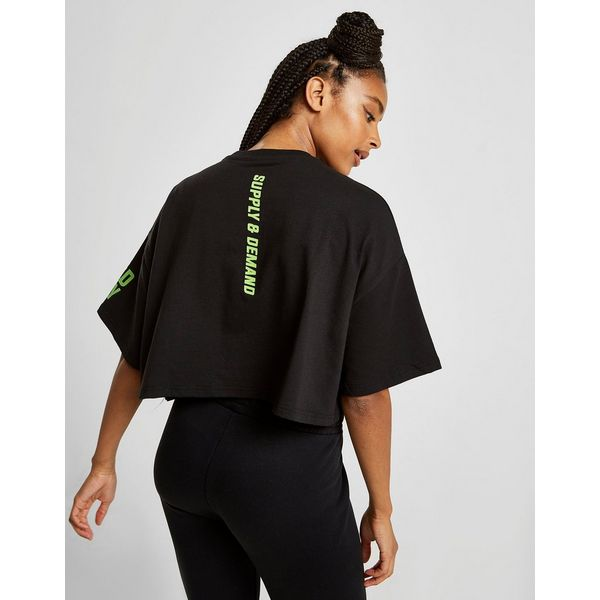 Supply & Demand Astro Crop T-Shirt Dames