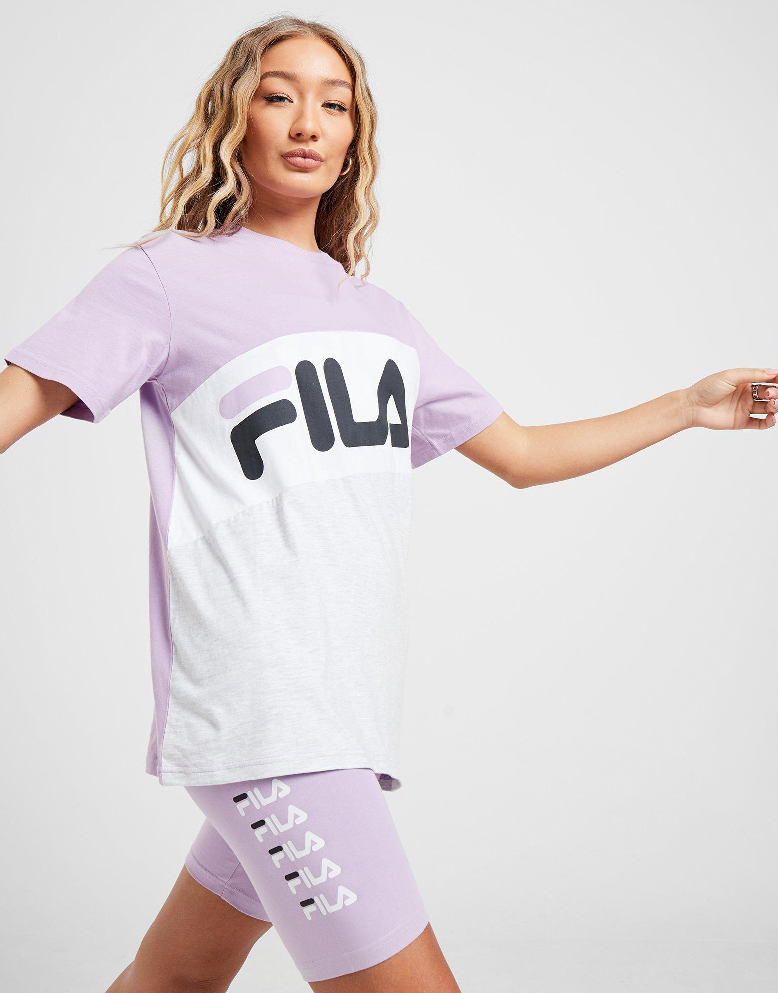 Fila Colour Block Boyfriend T-Shirt