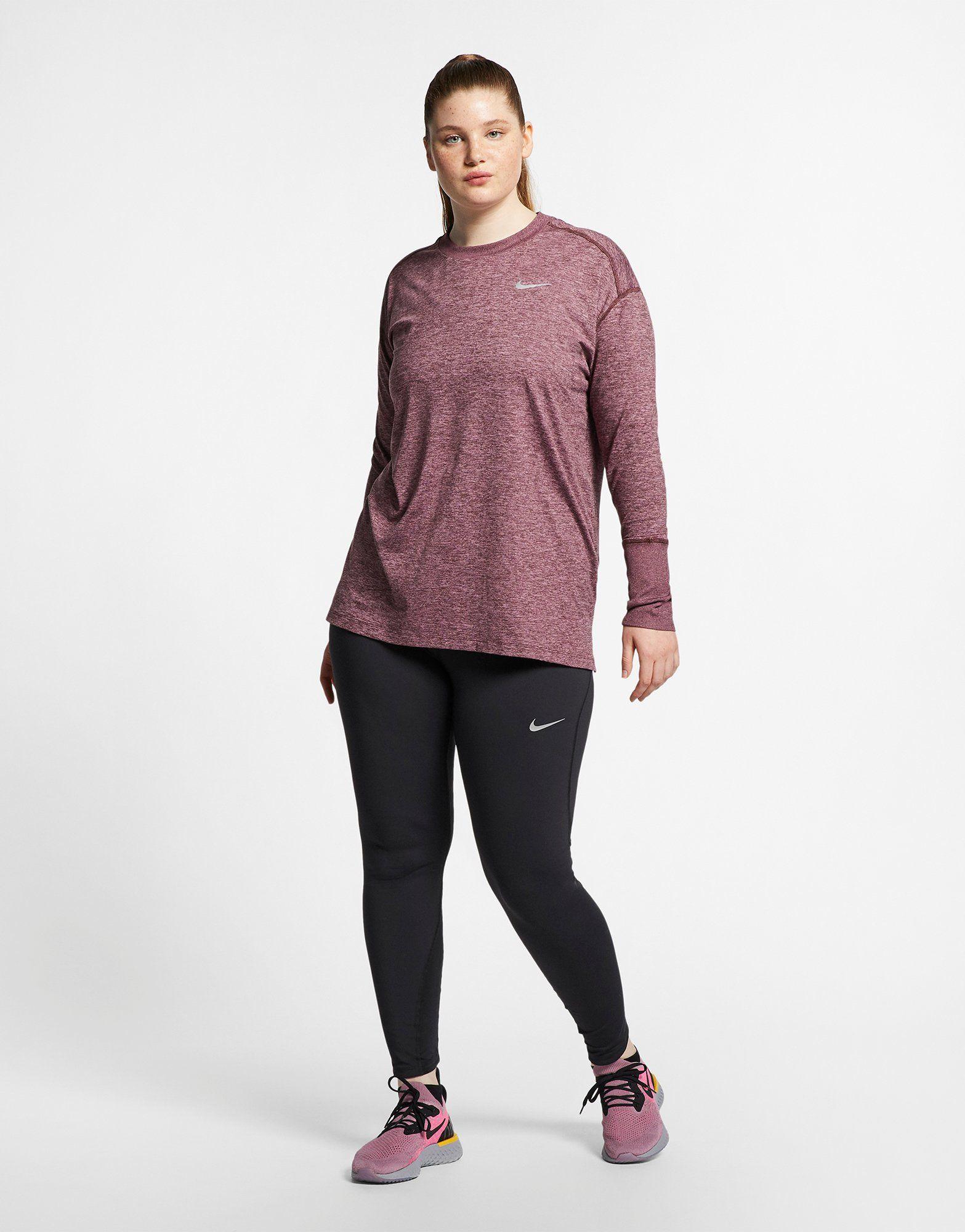 NIKE Nike Element (Plus Size) Women's Long-Sleeve Running Top