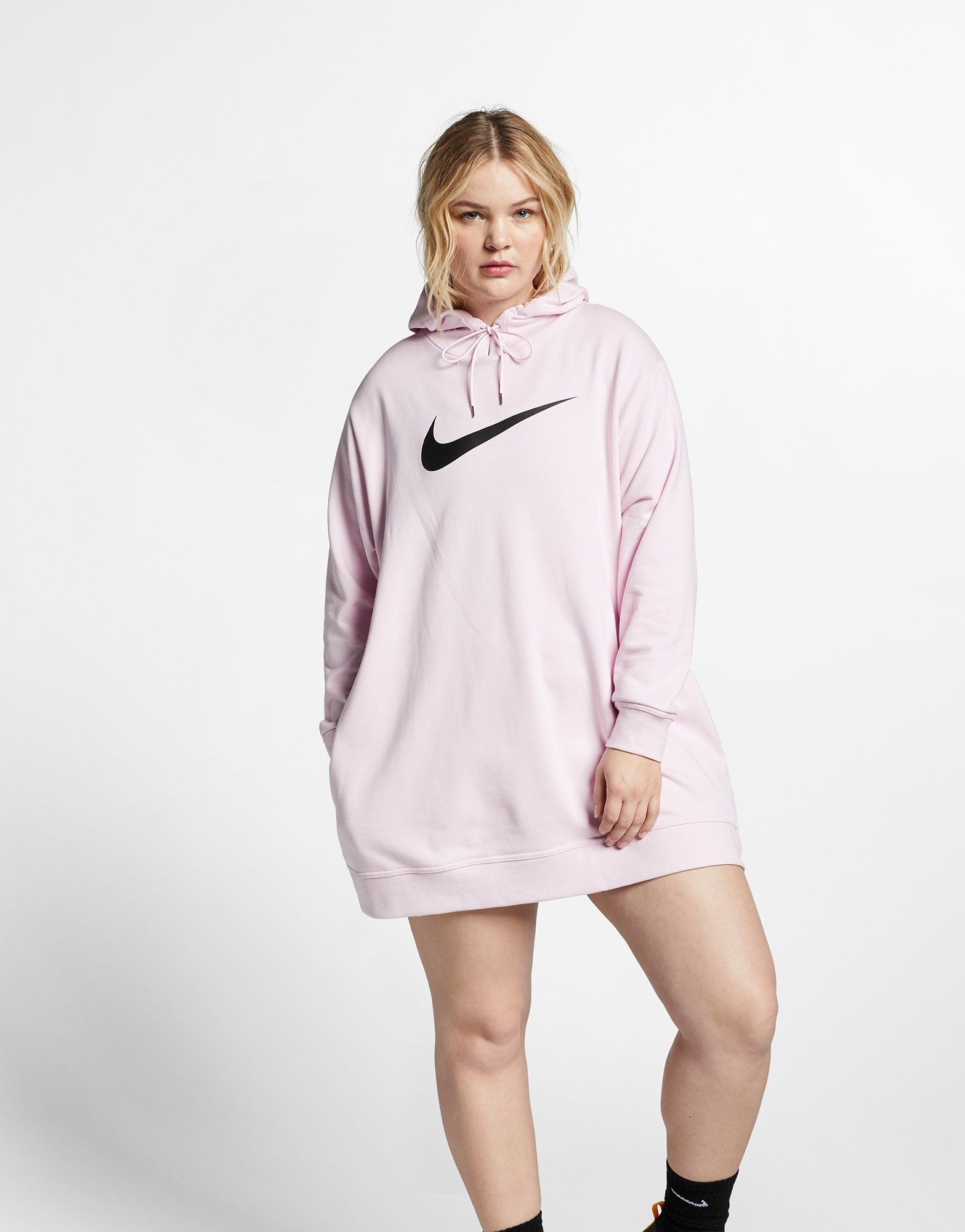1f57cf69b0fe NIKE Nike Sportswear Swoosh Women s French Terry Dress (Plus Size ...