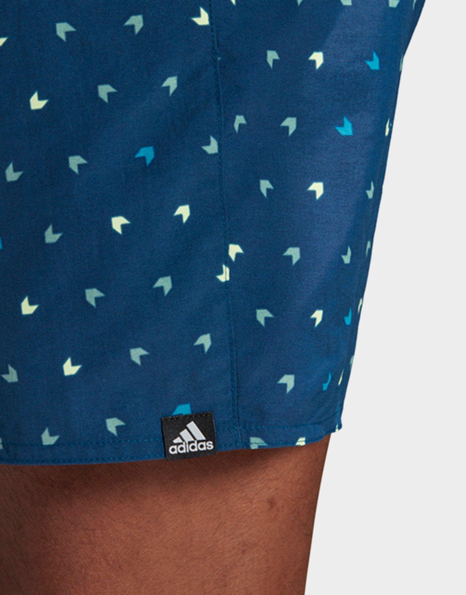 ADIDAS Allover Print Swim Shorts