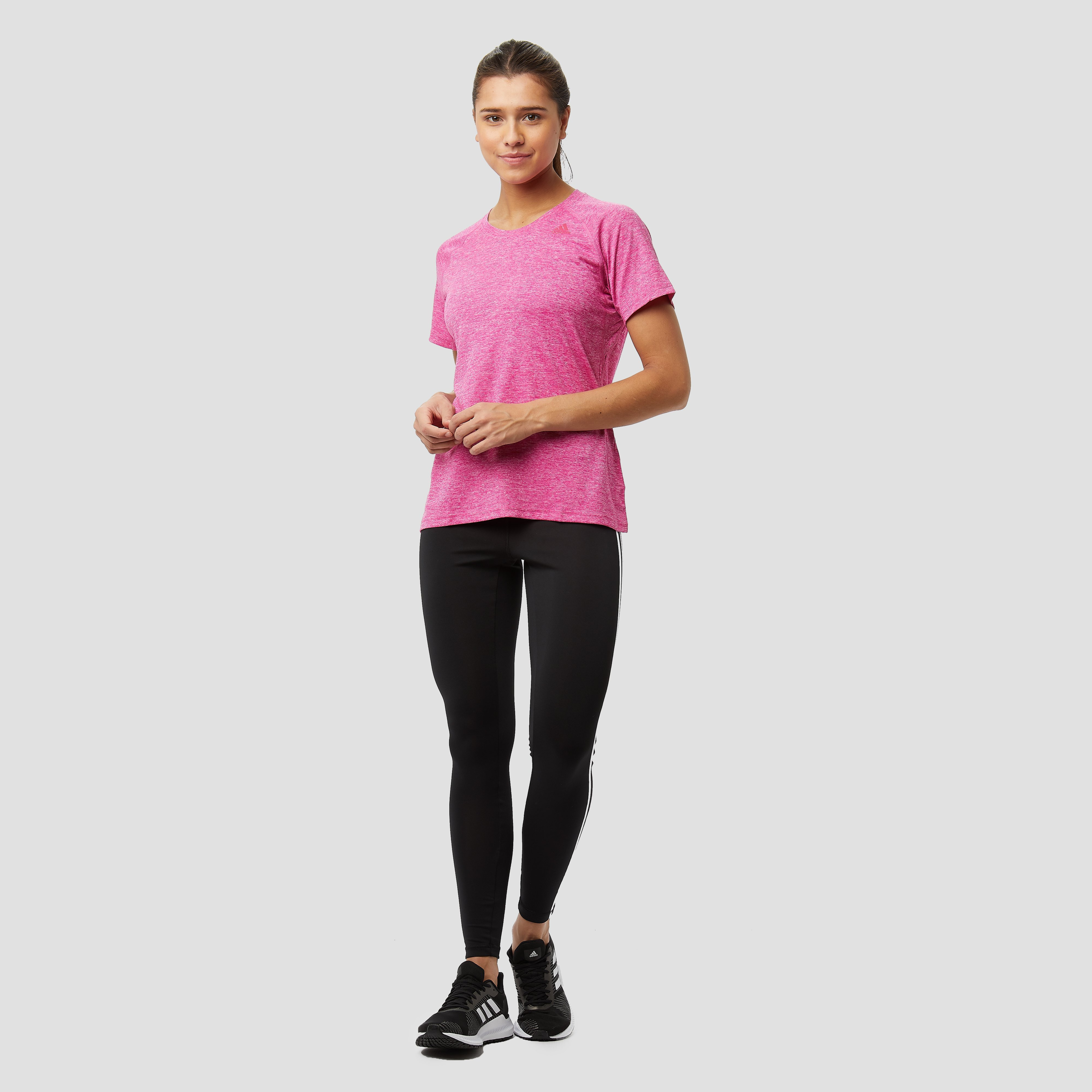 ADIDAS TECH PRIME 3-STRIPES SPORTSHIRT ROZE DAMES
