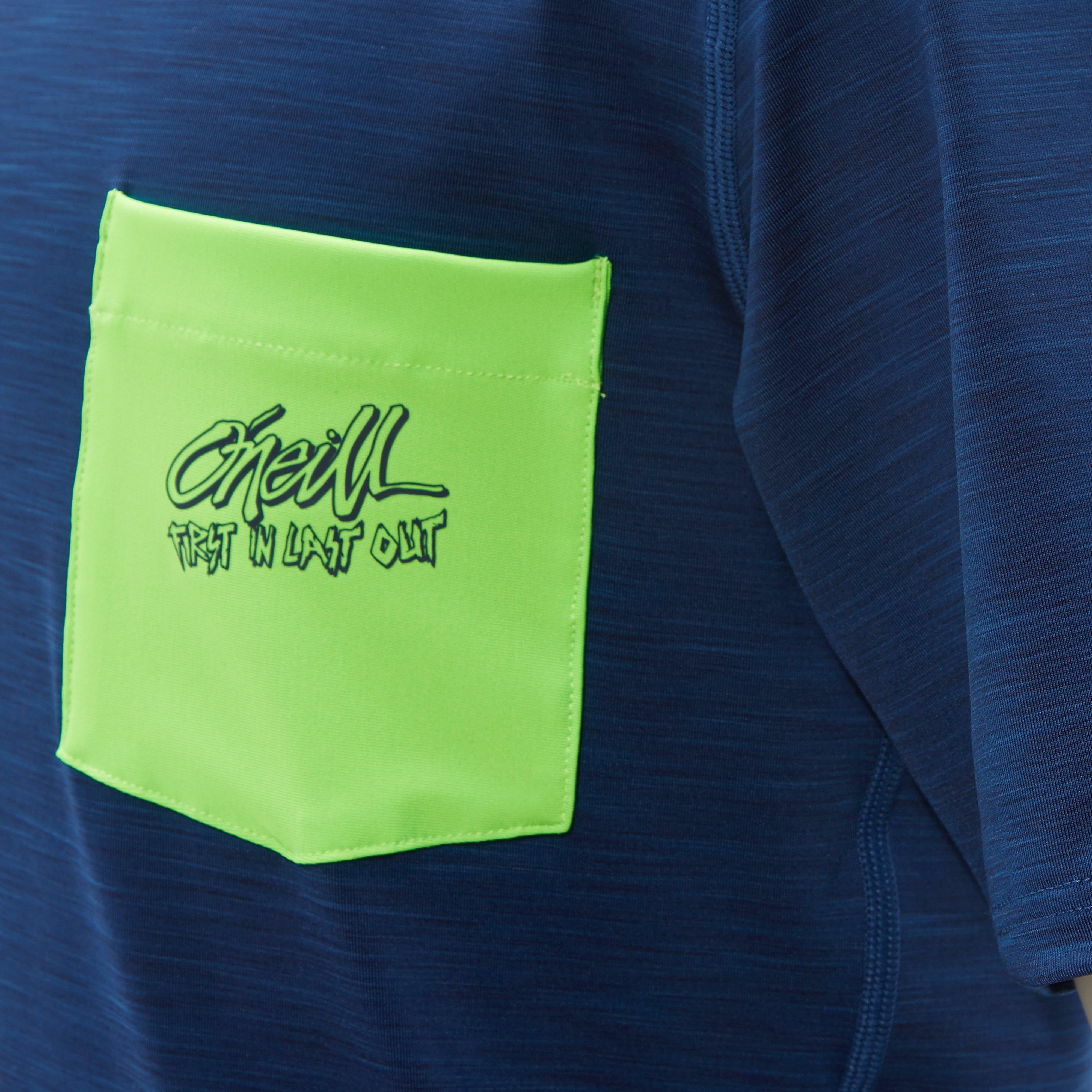 O'NEILL POCKET SURF SHORT SLEEVE SKIN SHIRT BLAUW KINDEREN
