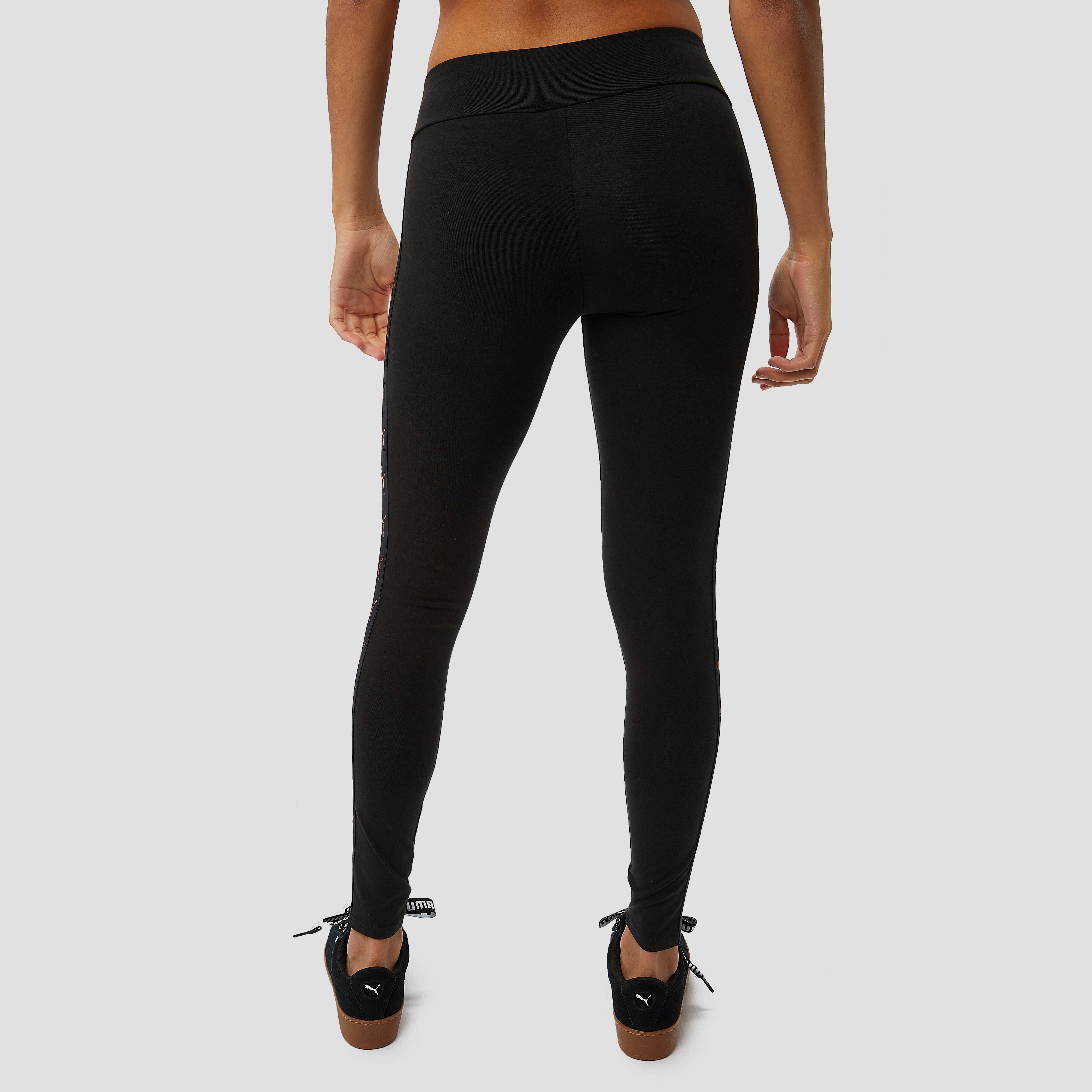 PUMA TAPED TIGHT ZWART DAMES