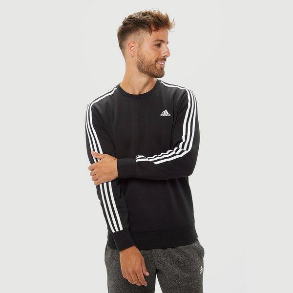 Essentials Adidas 3 Zwart Heren Stripes Sweater 0UZnA7qU