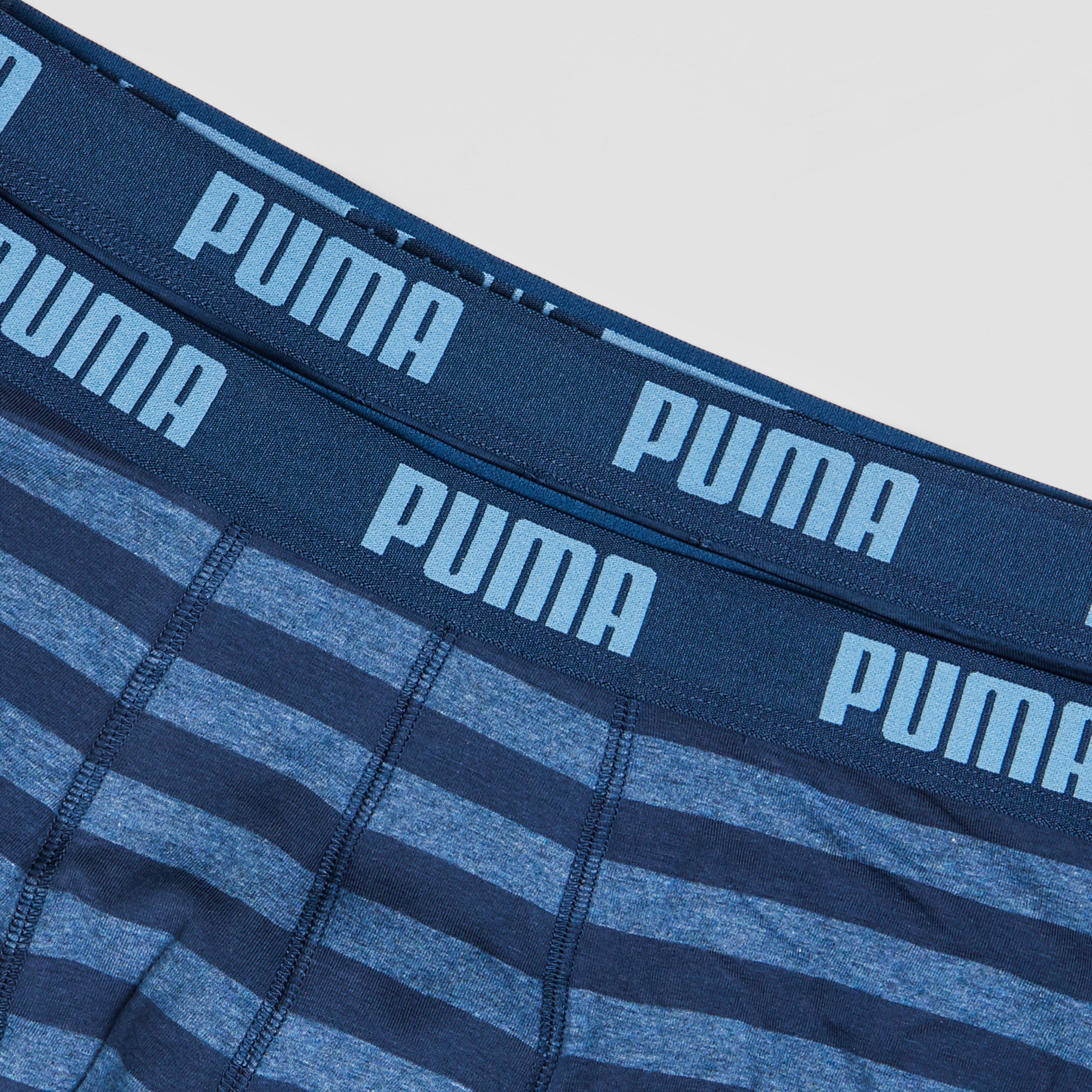 PUMA BASIC 2-PACK STRIPED BOXER BLAUW HEREN