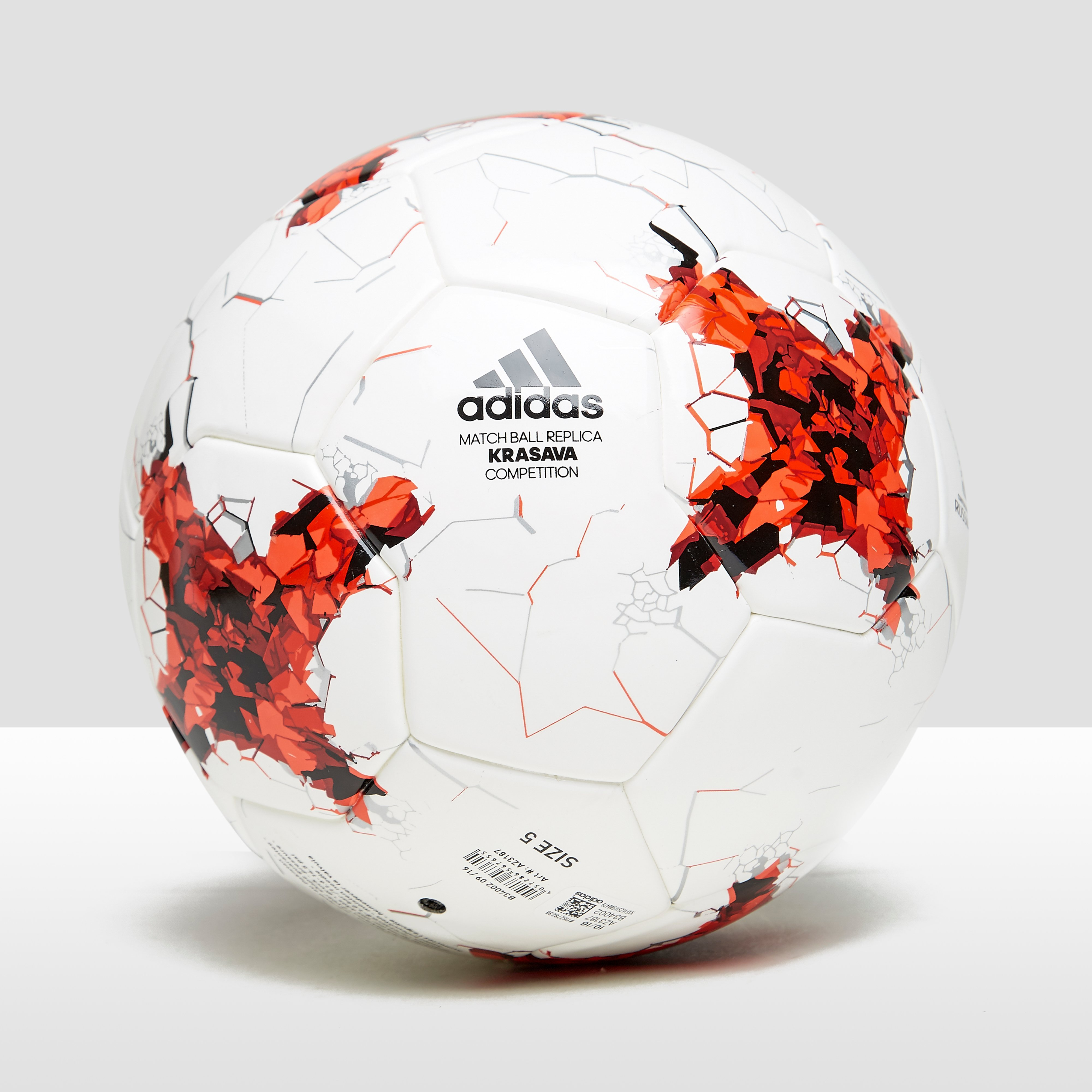 ADIDAS CONFEDERATIONS CUP COMPETITION VOETBAL WIT/ROOD
