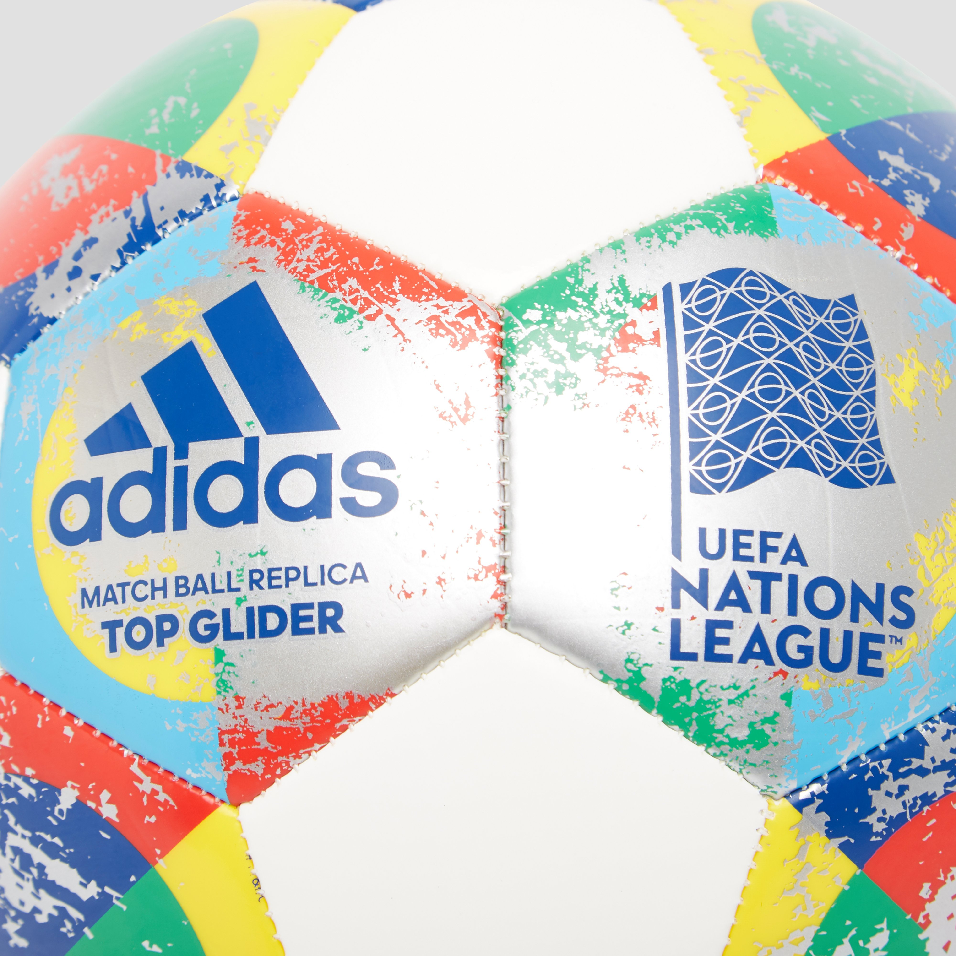 ADIDAS UEFA NATIONS LEAGUE TOP GLIDER VOETBAL WIT/GEEL