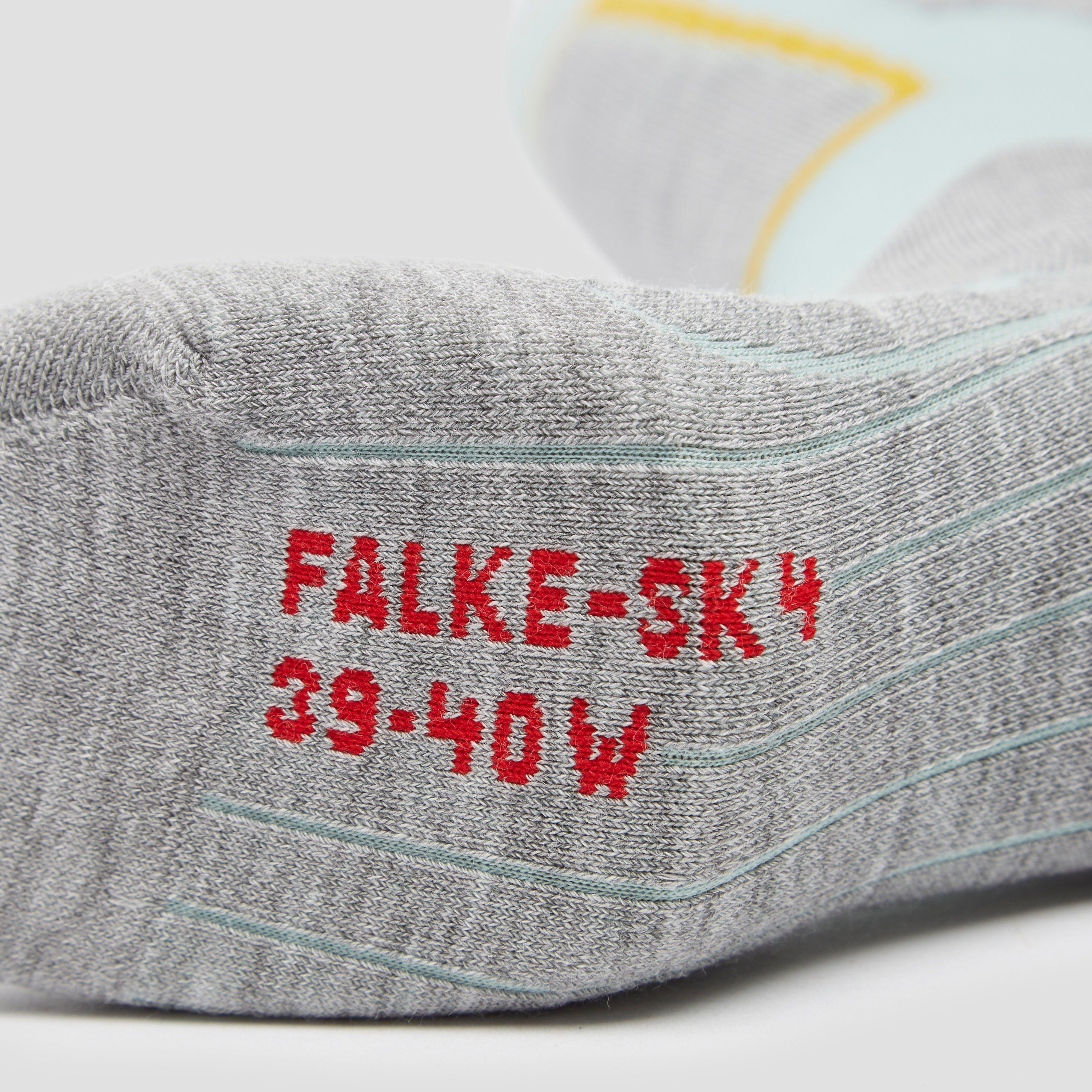 FALKE SK4 SKISOKKEN GROEN/GRIJS DAMES