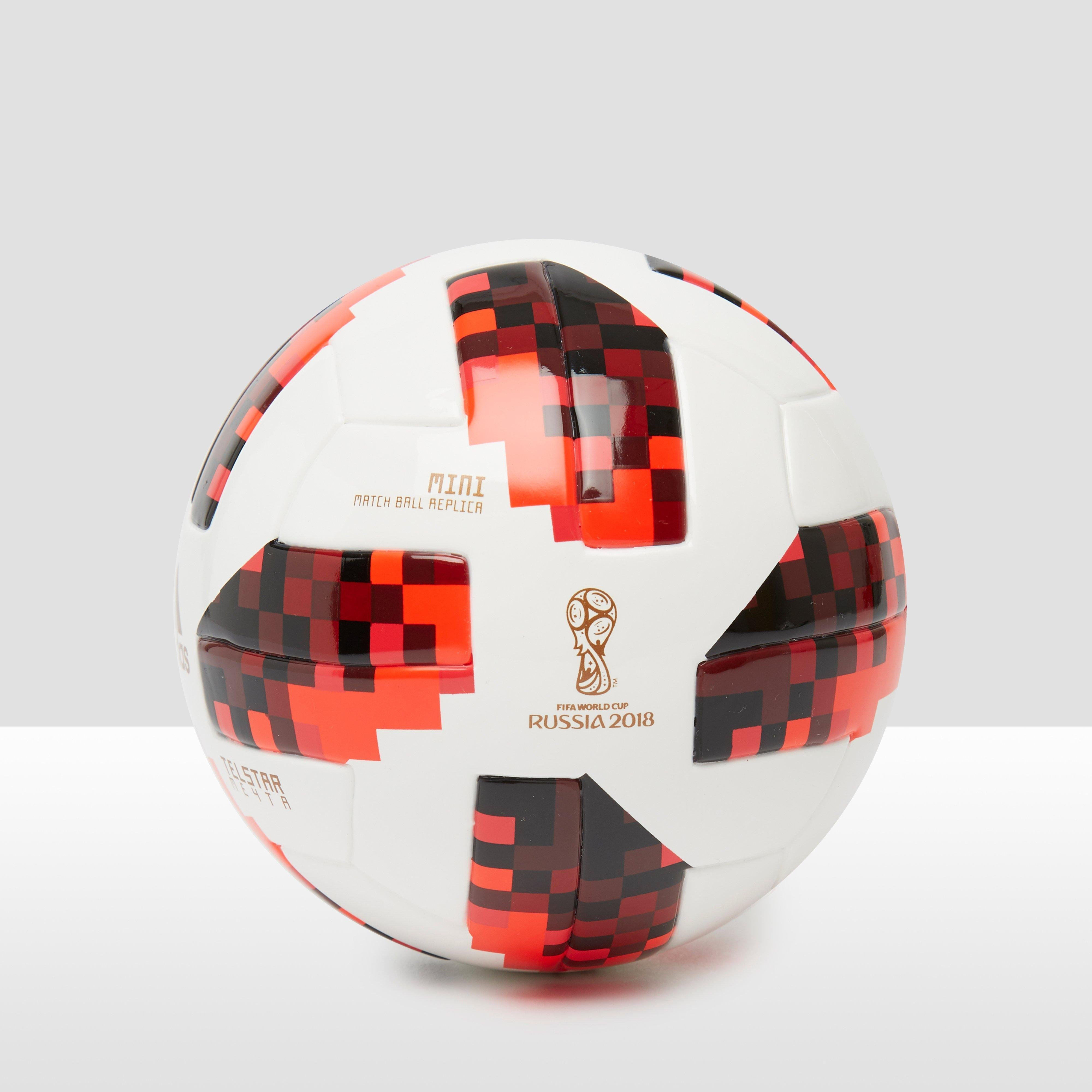 ADIDAS FIFA WORLD CUP 2018 KNOCK-OUT MINI VOETBAL WIT/ORANJE