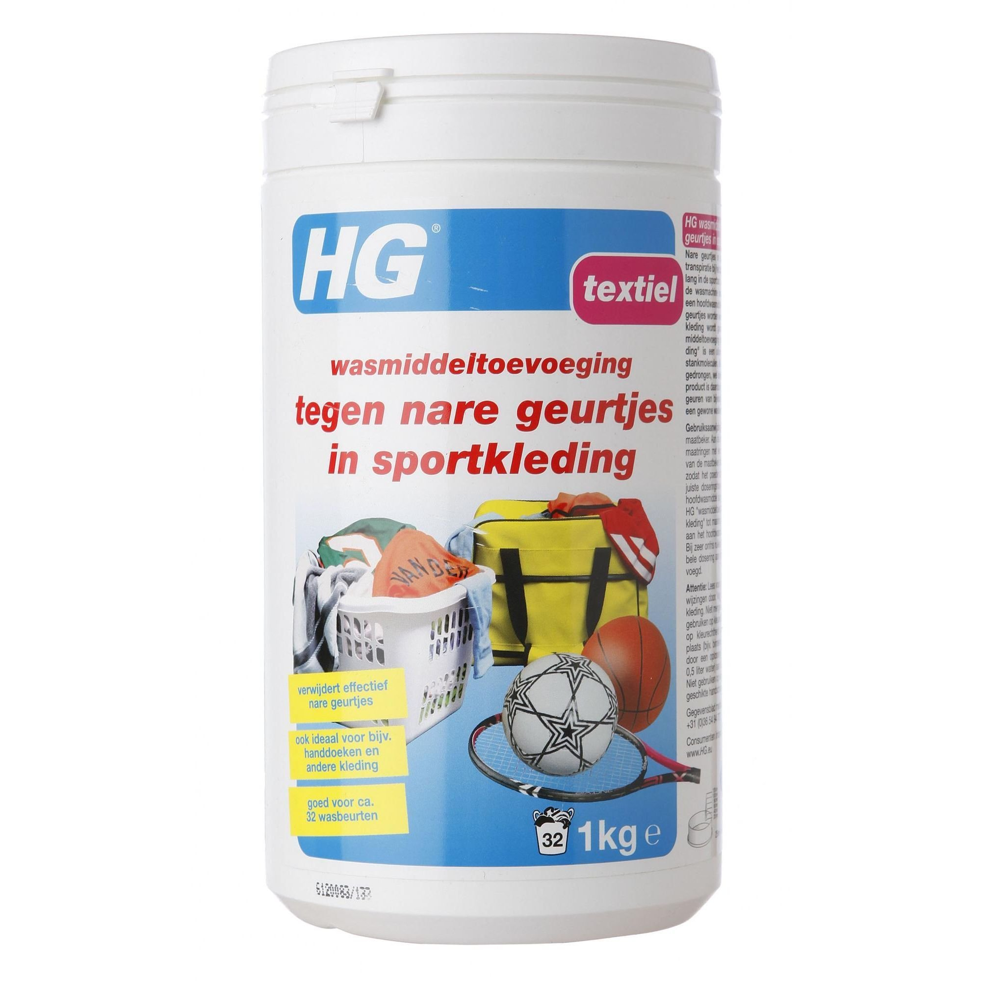 HG INTERNATIONAL WASMIDDEL SPORTKLEDING WIT