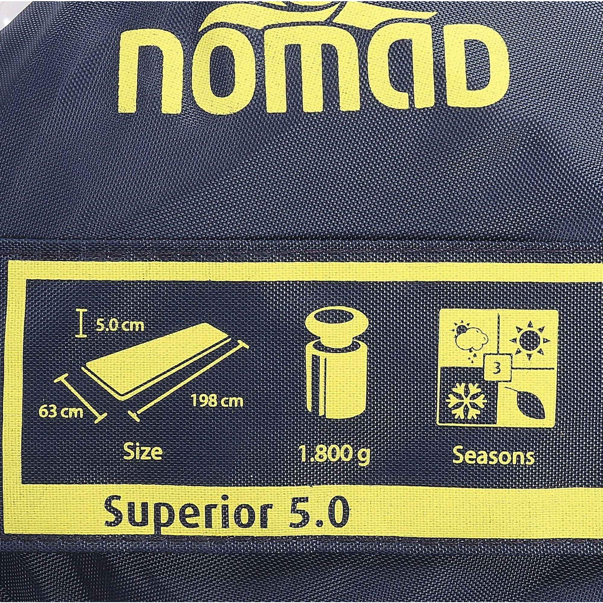 NOMAD SUPERIOR 5.0 SLAAPMAT ROOD