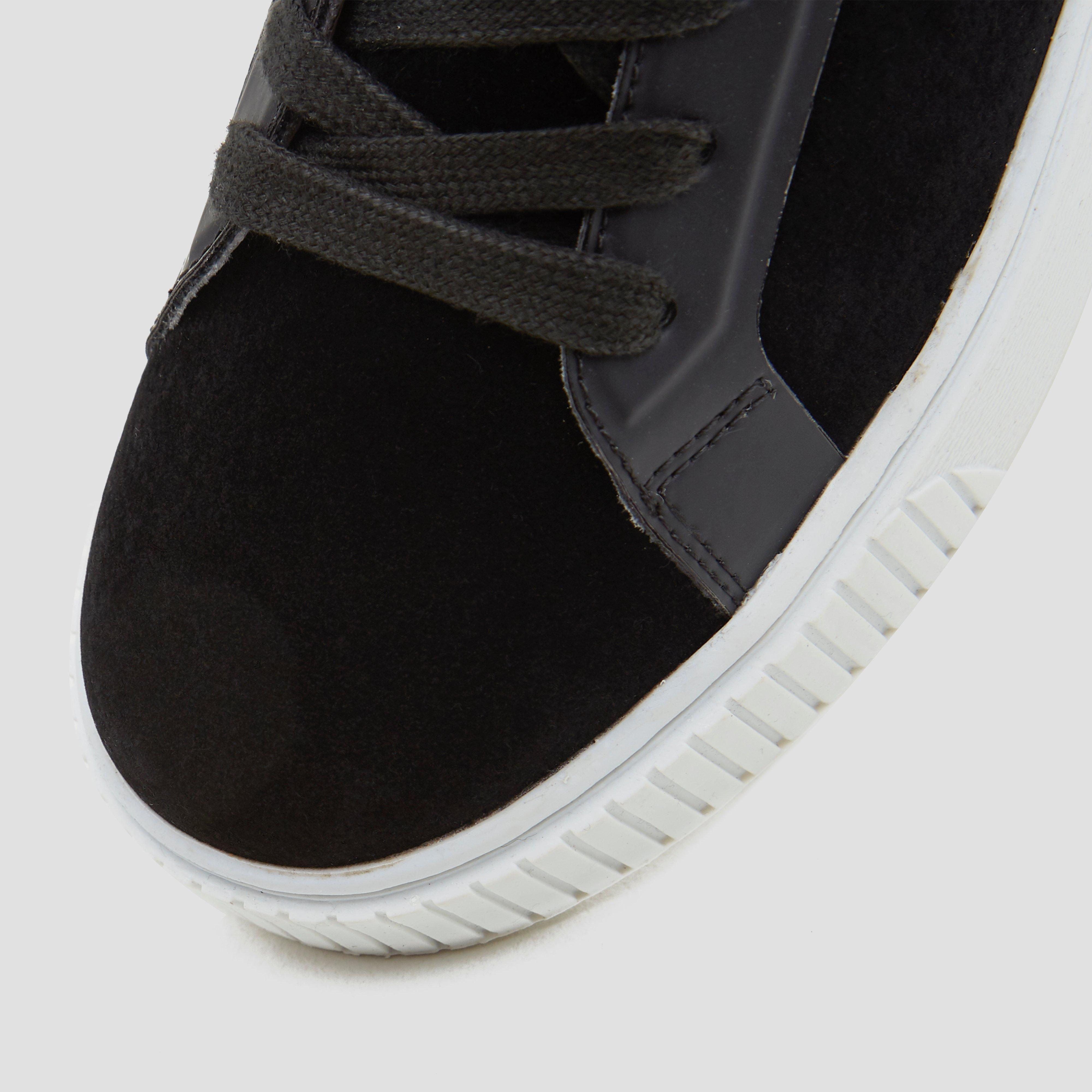 zwarte suede schoenen dames
