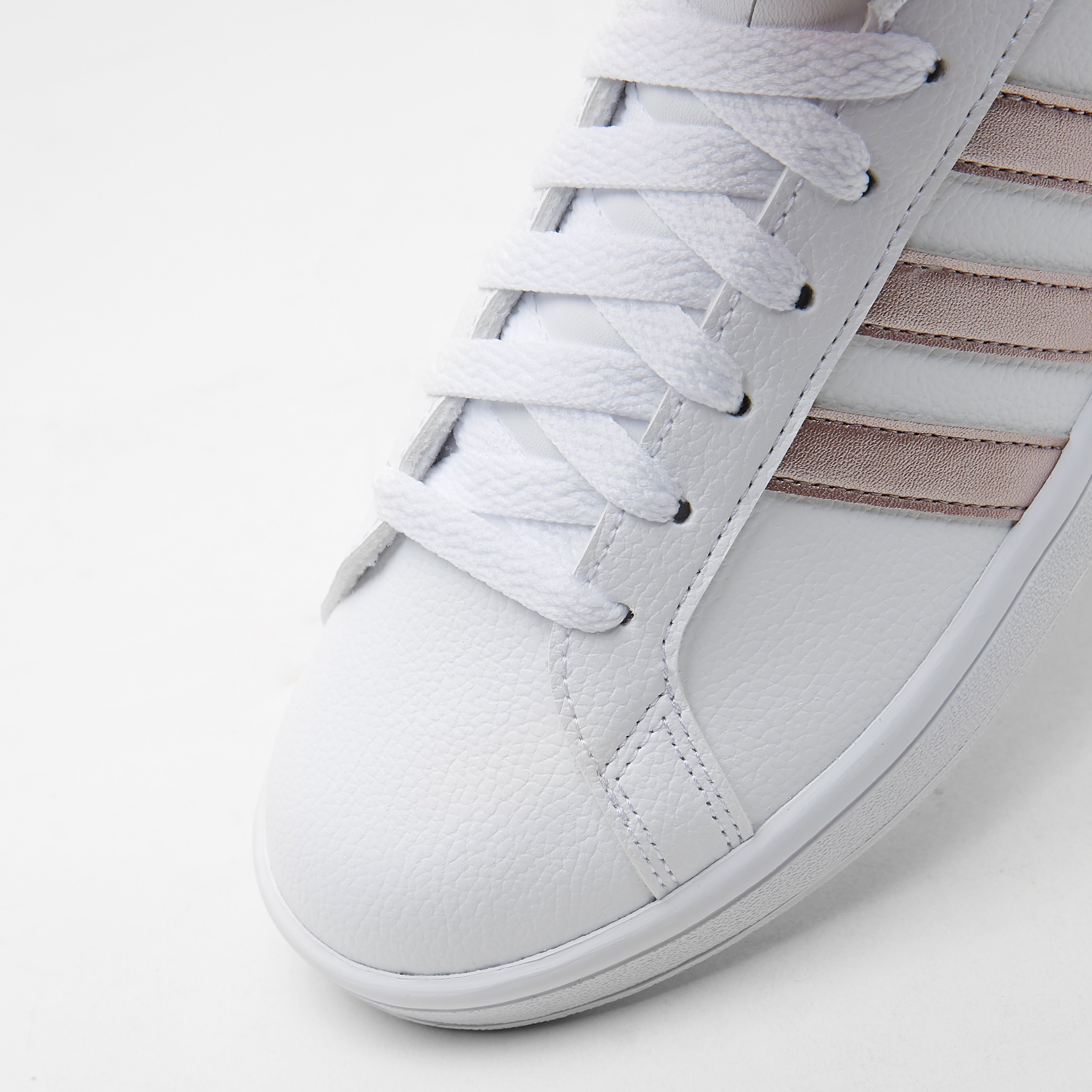 ADIDAS CLOUDFOAM ADVANTAGE SNEAKERS WIT/GOUD DAMES
