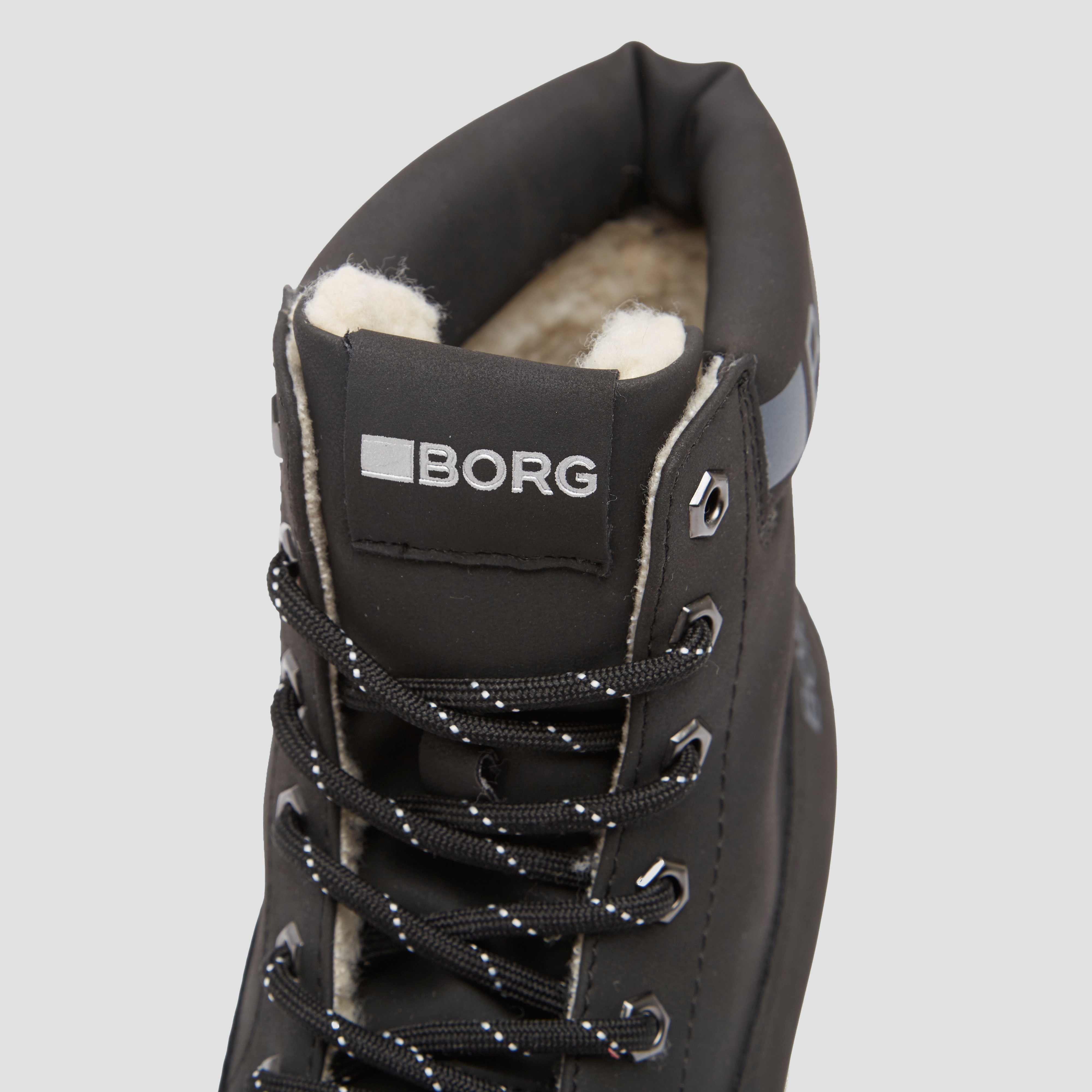 BJORN BORG X250 HIGH FUR SNEAKERS ZWART DAMES