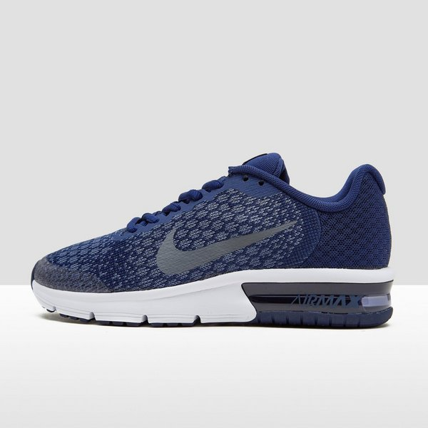 nike air max sequent blauw