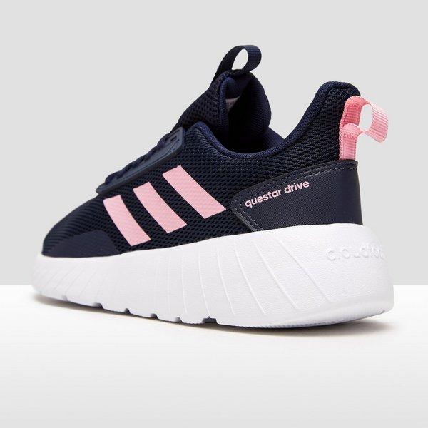 adidas sneakers dames blauw roze