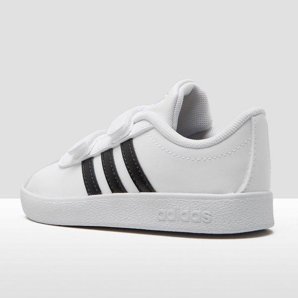 adidas vl court 2 0 sneakers wit zwart kinderen perrysport. Black Bedroom Furniture Sets. Home Design Ideas