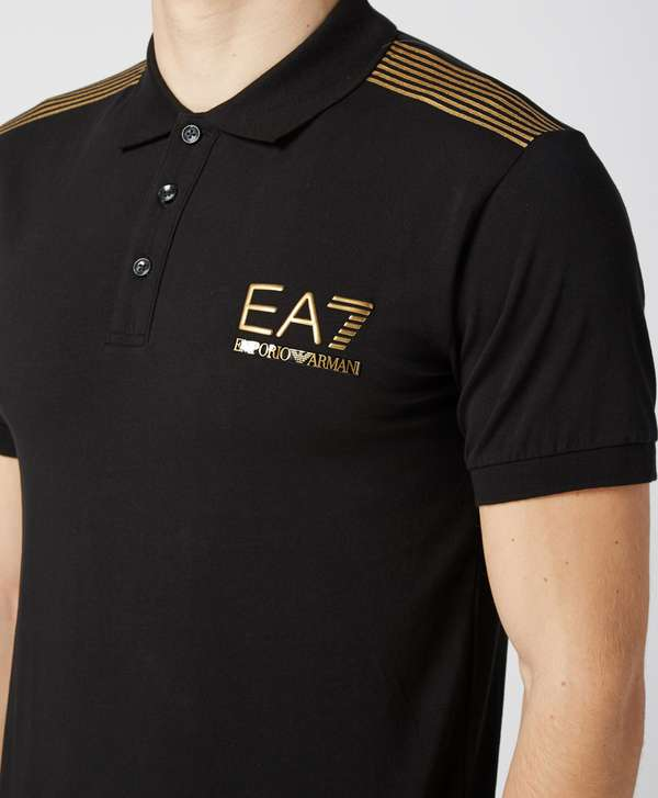 51e899a4 get young versace polo shirt black gold 340ad d5562; france emporio armani  ea7 gold evo polo shirt exclusive 90888 94aa8