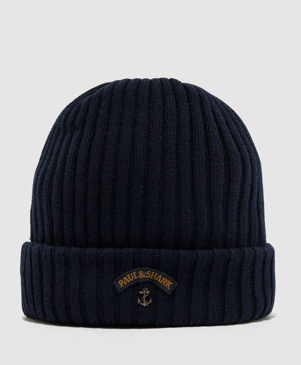 Paul and Shark Ribbed Knitted Logo Beanie  109c5fb9c9c