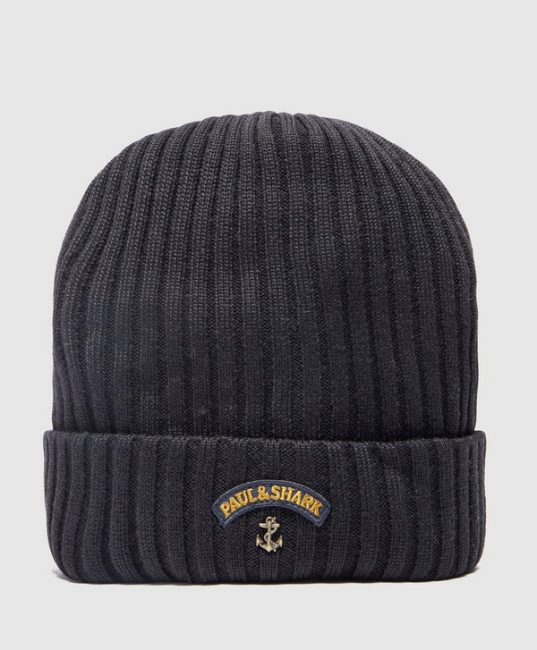 0000d3393f9 Paul and Shark Ribbed Knitted Logo Beanie
