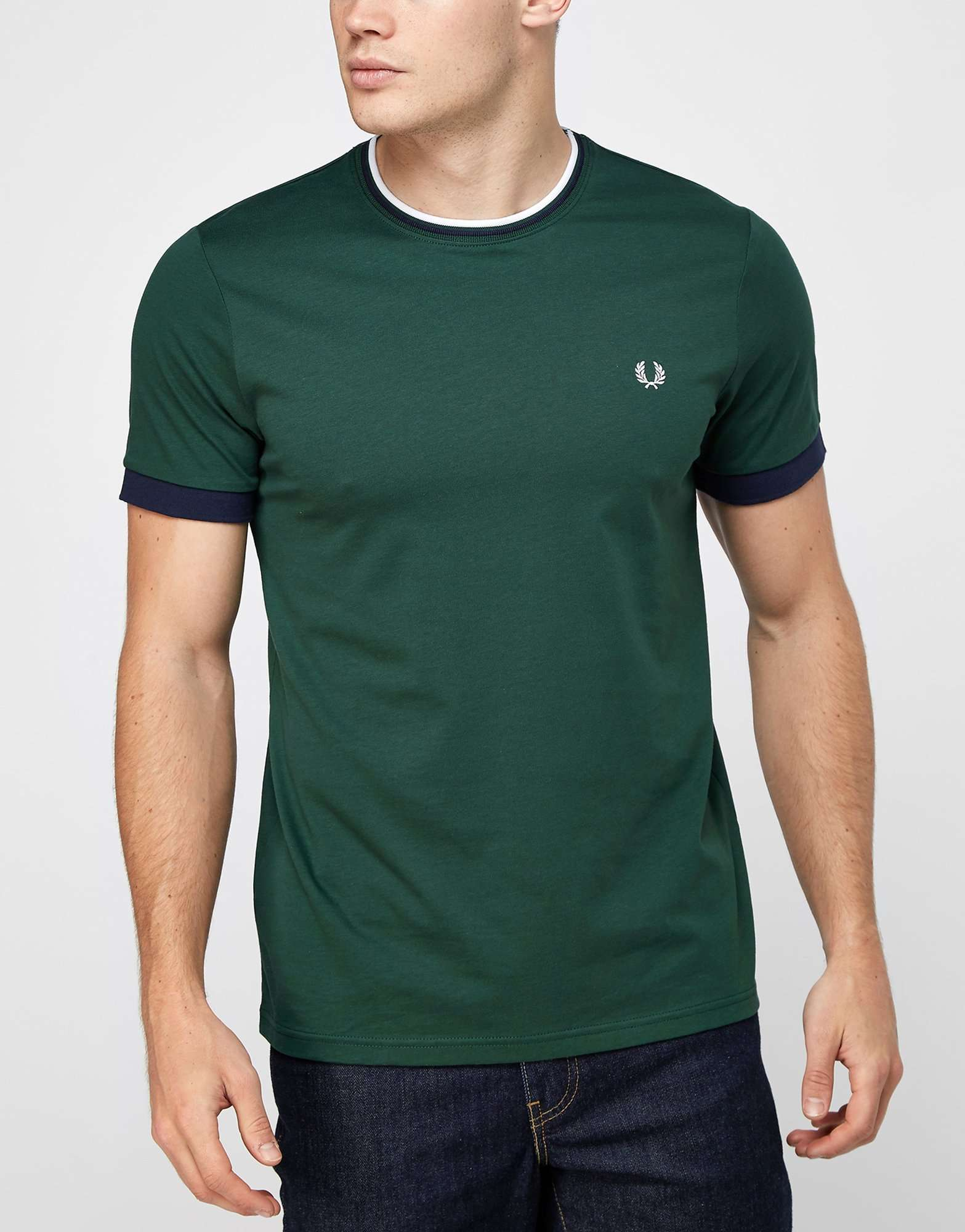fred perry tipped ringer t shirt scotts menswear. Black Bedroom Furniture Sets. Home Design Ideas