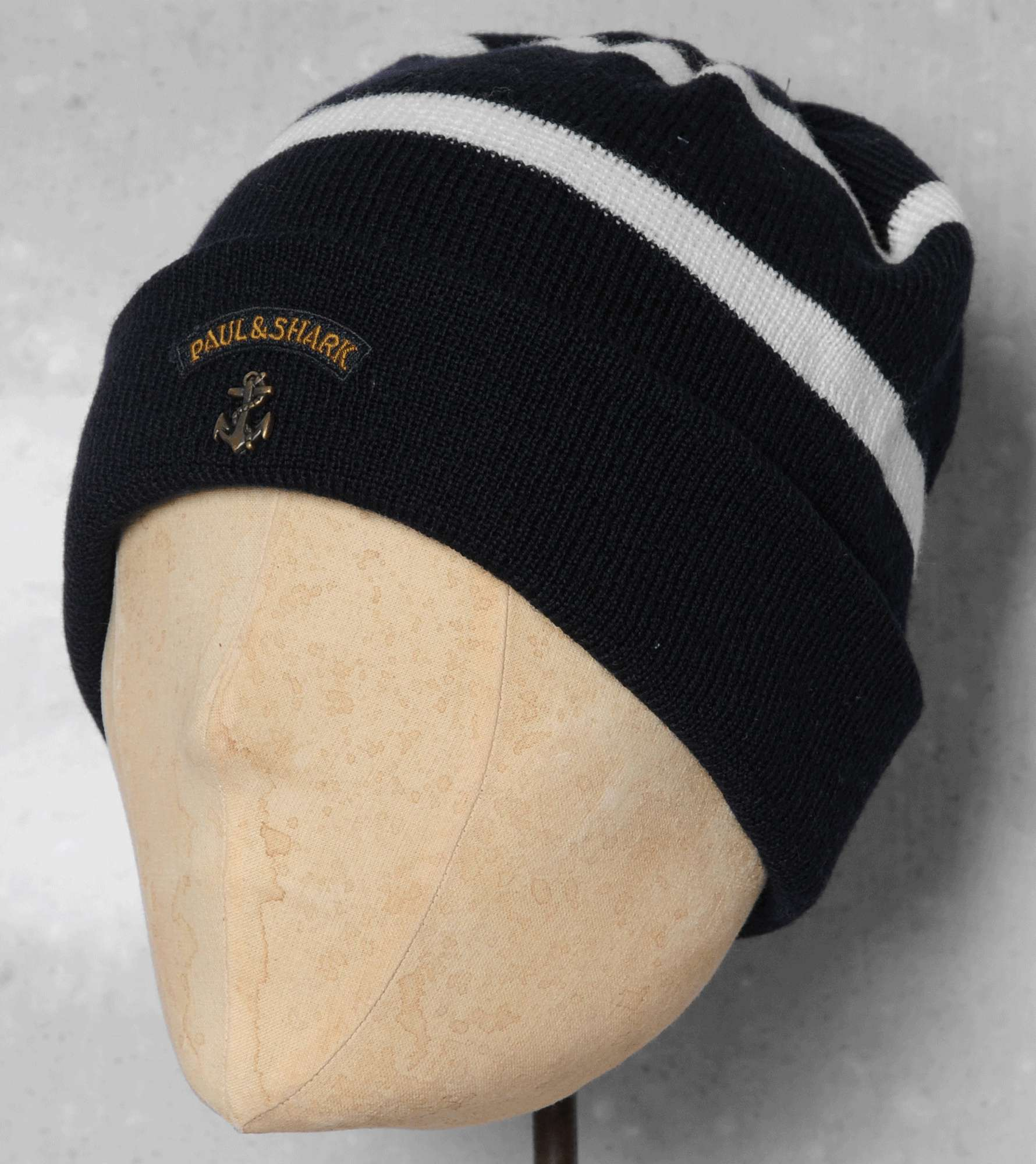 Paul and Shark Striped Beanie  71071fe5538