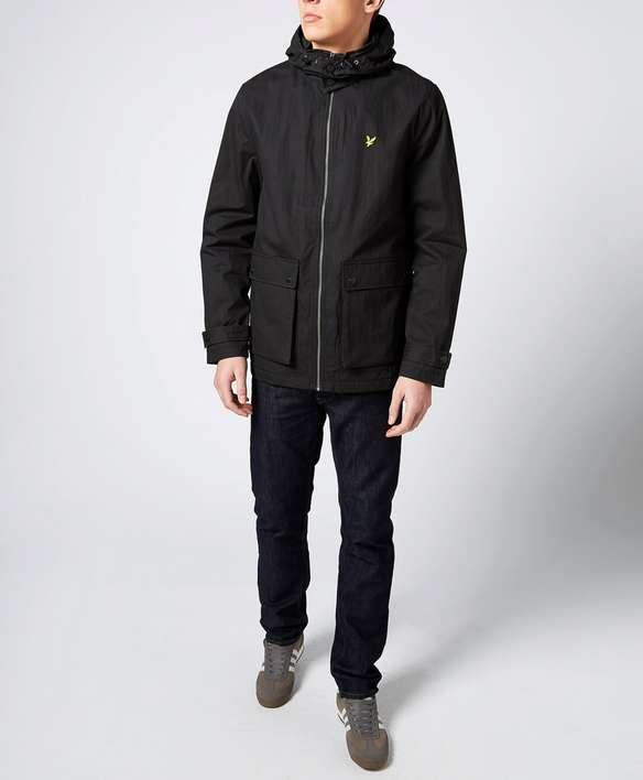 lyle scott lined parka jacket scotts menswear. Black Bedroom Furniture Sets. Home Design Ideas