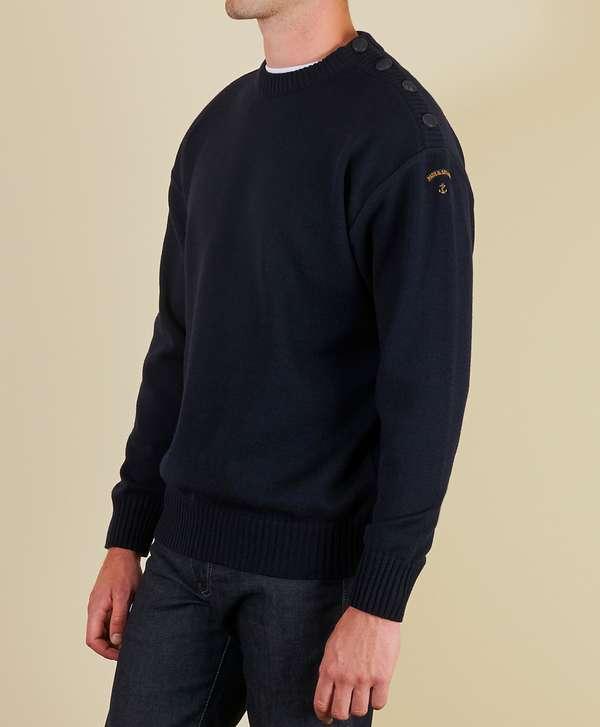 Paul & Shark Button Shoulder Knit - Exclusive Navy Mens