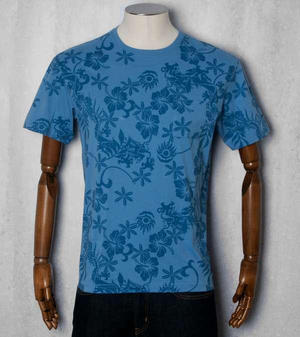 Maharishi hawaii print t shirt scotts menswear for T shirt printing hawaii
