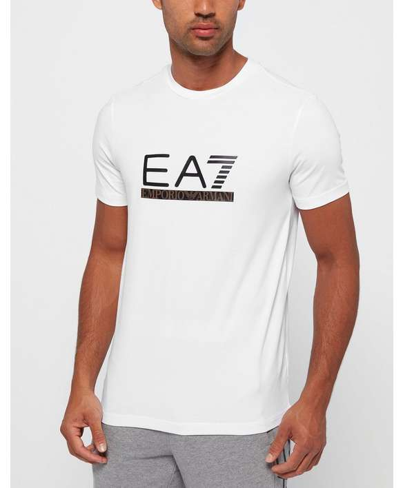 EA7 Leather Logo T-Shirt - Exclusive