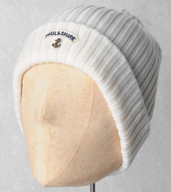 Paul and Shark Ribbed Knit Hat  b985d998e7b