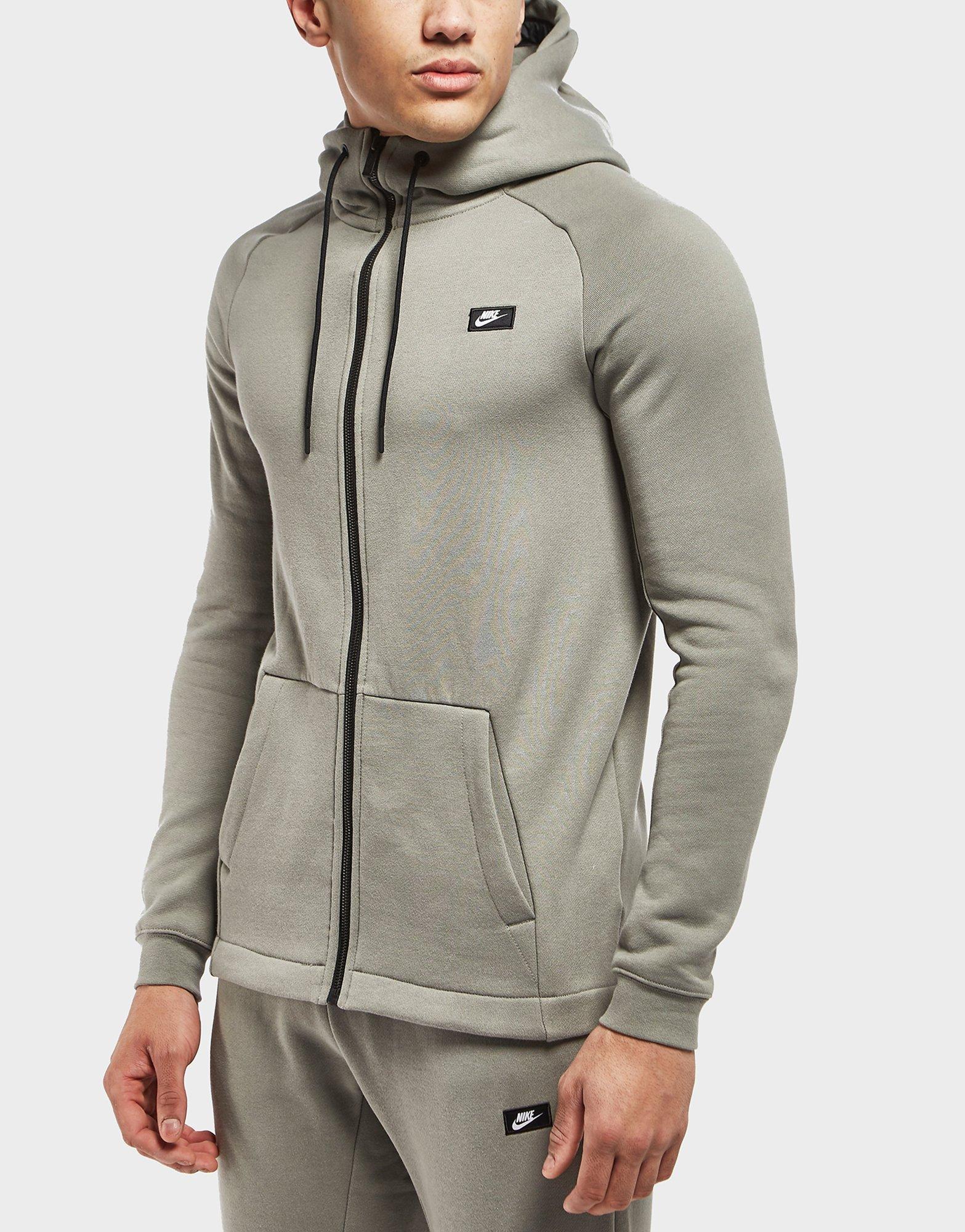 Nike AW77 BB Tech Mens Full Zip Hoody Sportswear Mens Sportswear COLOUR-grey/red